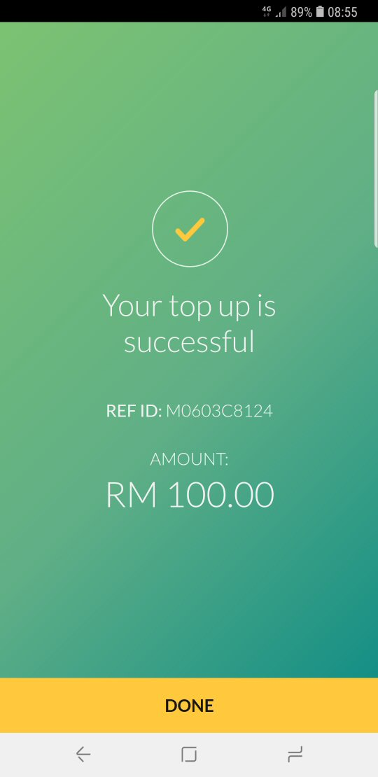 MAE top-up success