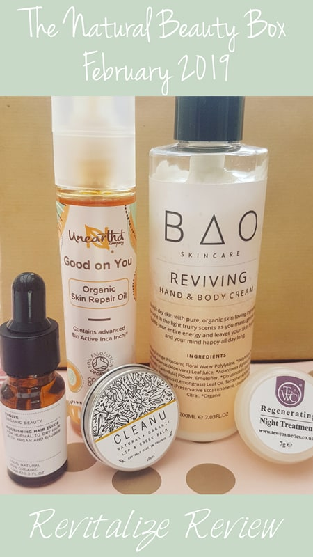 February 2019 The Natural Beauty Box products