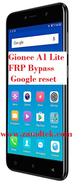 Gioneee A1 Lite frp bypass and google account reset