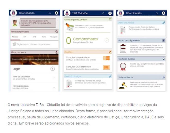 TJ-BA lança App que possibilita consulta a processos judiciais e outros serviços para o cidadão