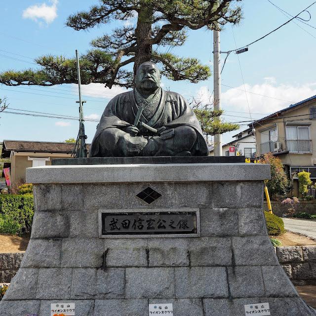 塩山駅 武田信玄像