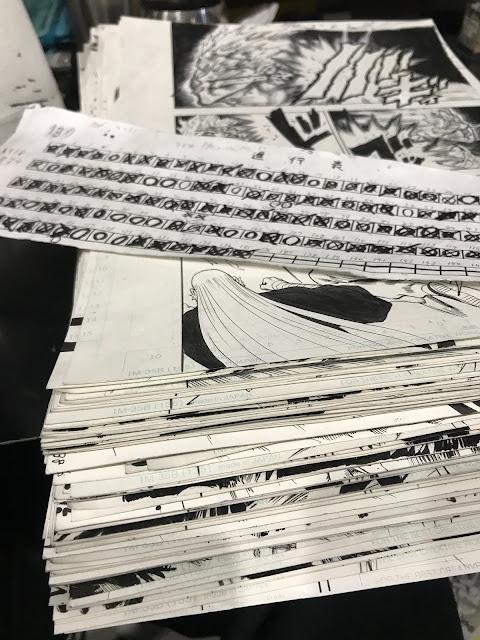 """Más de 100 páginas para el próximo capítulo de """"One-Punch Man"""" (ワンパンマン)."""