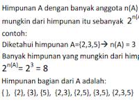 Macam-Macam Himpunan Matematika