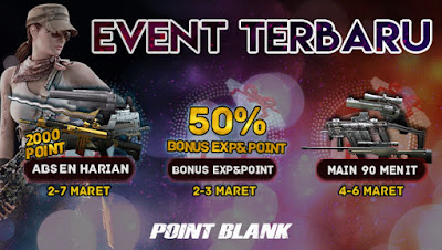 Event Absen Harian Point Blank PB Garena Indoensia