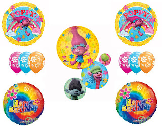 Trolls Movie Balloon Bouquet party supplies
