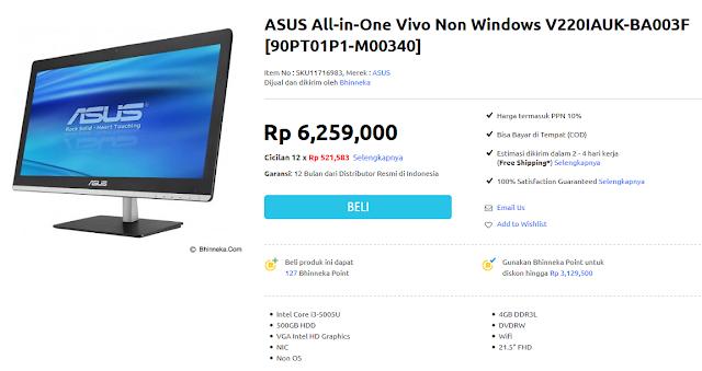 Harga dan Spesifikasi Komputer Desktop All in One Core i3 Termurah