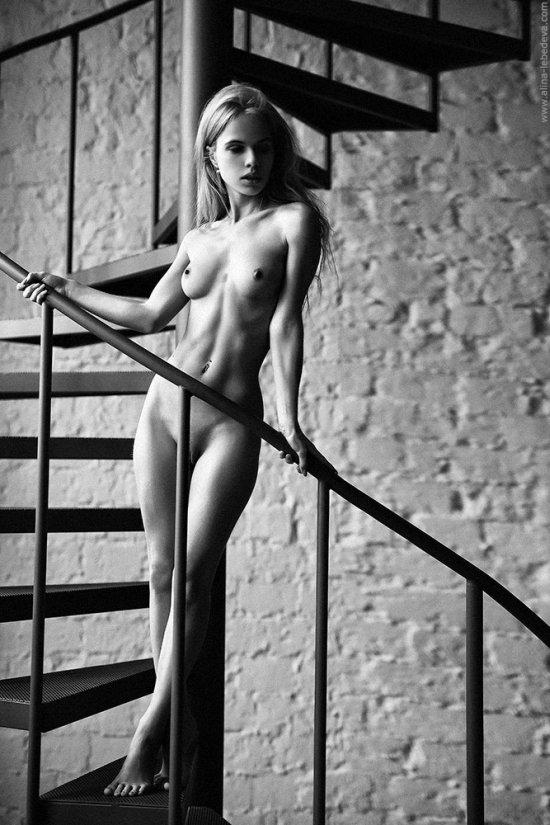 Alina Lebedeva 500px arte fotografia mulheres modelos nuas russas sensuais provocante fashion preto e branco