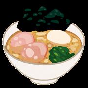 家系ラーメンのイラスト(味付け卵)