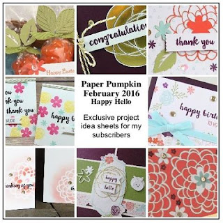 Join my Paper Pumpkin Patch to get exclusive project idea sheets for even MORE alternative ideas for using your Paper Pumpkin kits www.juliedavison.com