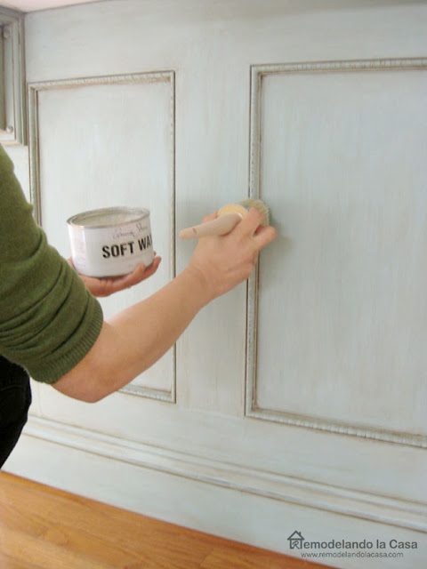 How to refinish kitchen cabinets with chalk paint, glaze and wax