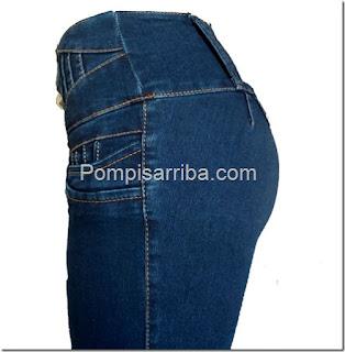 pantalon de mezclilla para dama al mayoréo jeans baratos corte colombiano en Medrano