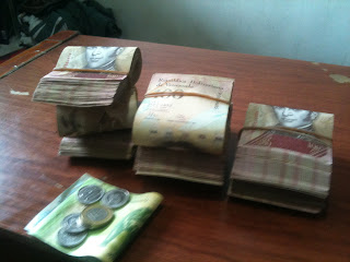 With 100 bolivares the biggest note denomination, you need plenty of them for cash transactions in Venezuela right now ...