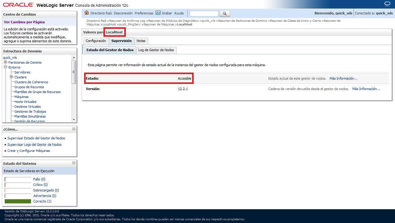 Adagio for char*: Set up, start and stop node manager of WebLogic ...