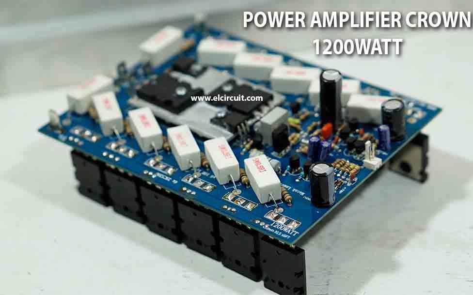 1200W Power Amplifier Crown XLS 1200 - Electronic Circuit