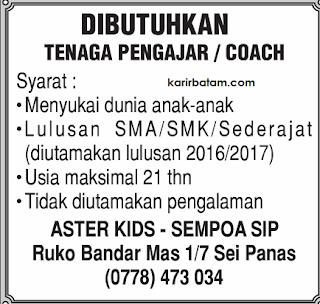 Lowongan Kerja Aster Kids - Sempoa SIP