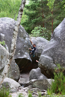 Inconnu dans le Styrax, 6B, 22 rouge, Rocher Canon, Fontainebleau
