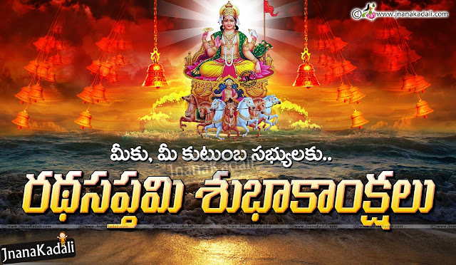 Sun god hd wallpapers with ratha saptami wishes quotes, significance of ratha saptami in Telugu