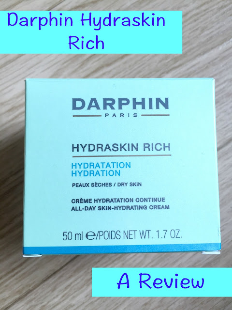 Darphin Hydraskin Rich Moisturiser - A Review