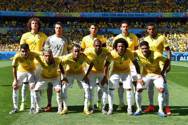 Formación de Brasil ante Chile, Copa del Mundo Brasil 2014, 28 de junio