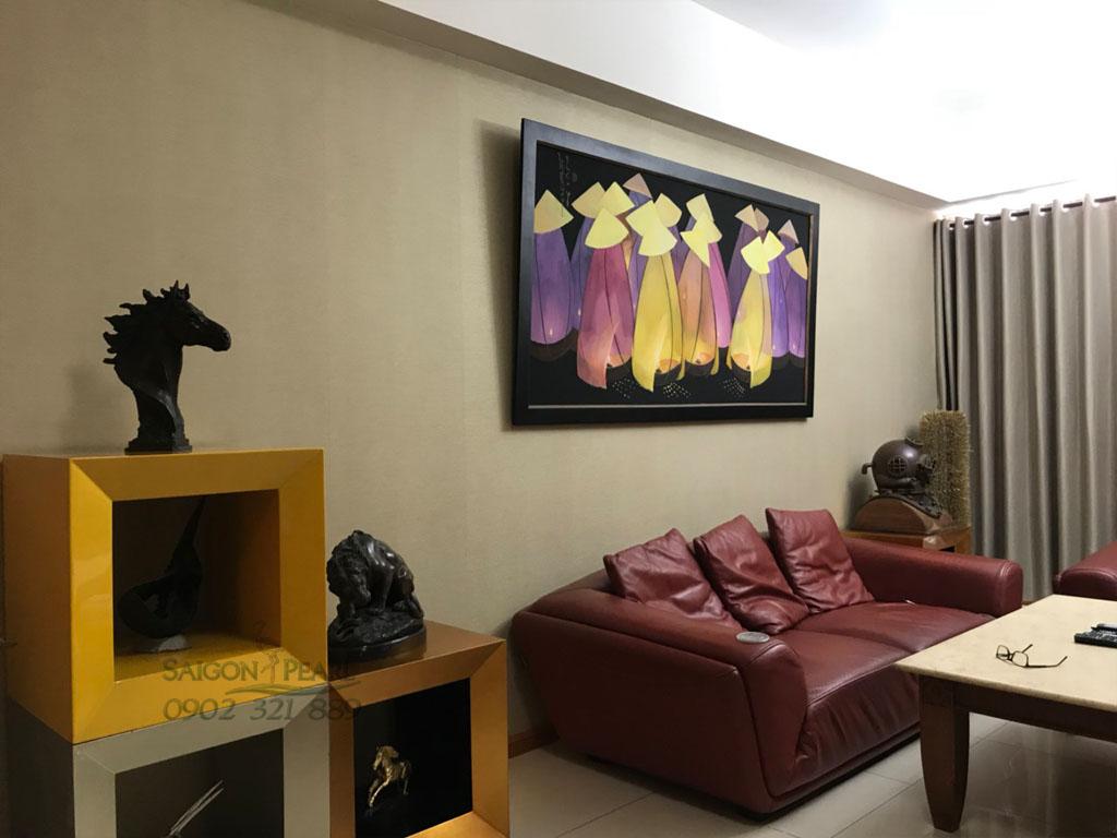 {Ruby 2 Saigon Pearl} cho thuê căn hộ 3PN tầng cao nội thất đẹp - hình 3