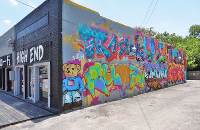The Teddy Bear mural on Lower Westheimer