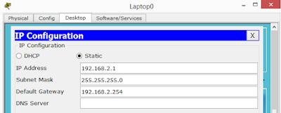 Konfigurasi ip address pada laptop