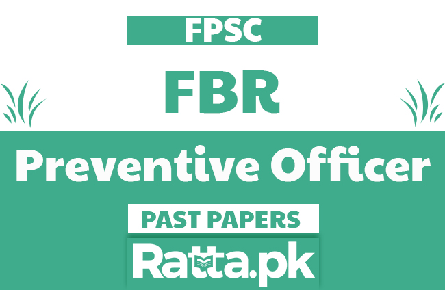 FPSC FBR Inspector Customs & Preventive Officer solved Past Papers pdf