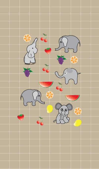 Cute elephant theme v.3