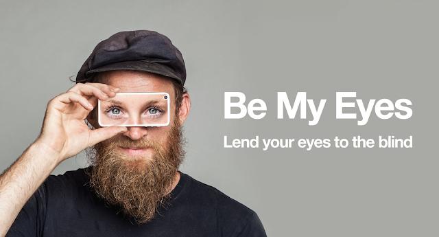 تطبيق Be my eyes لمساعدة المكفوفين في رؤية ما حولهم