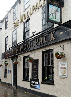 The Woolpack  pub in Brigg with hanging baskets on display - see Nigel Fisher's Brigg Blog