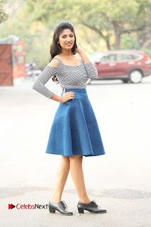 Telugu Actress Roshini Prakash Stills Short Dress at Saptagiri Express Release Press Meet  0218.JPG