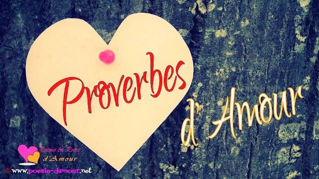 Une très belle image d'un proverbe d'amour