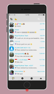 BBM MOD Delta Light Theme (Latest Update)