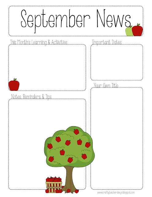 SeptemberNewsletter October Newsletter Daycare Template on printable downloadable, free downloadable preschool,
