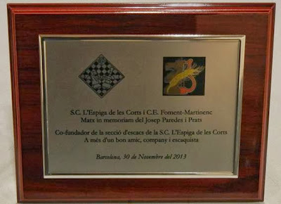 Placa del homenaje a Josep Paredes (2)