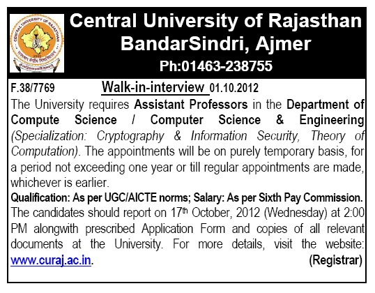 The best: central university of rajasthan tenders dating