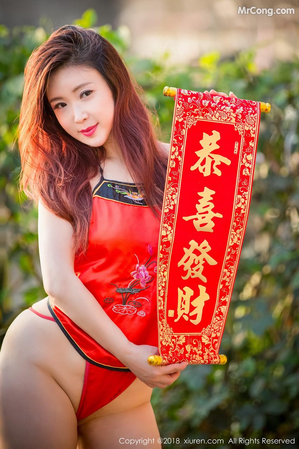 Image XIUREN-No.887-Xi-Xi-Bai-Tu-MrCong.com-006 in post XIUREN No.887: Người mẫu Xi Xi Bai Tu (西希白兔) (44 ảnh)