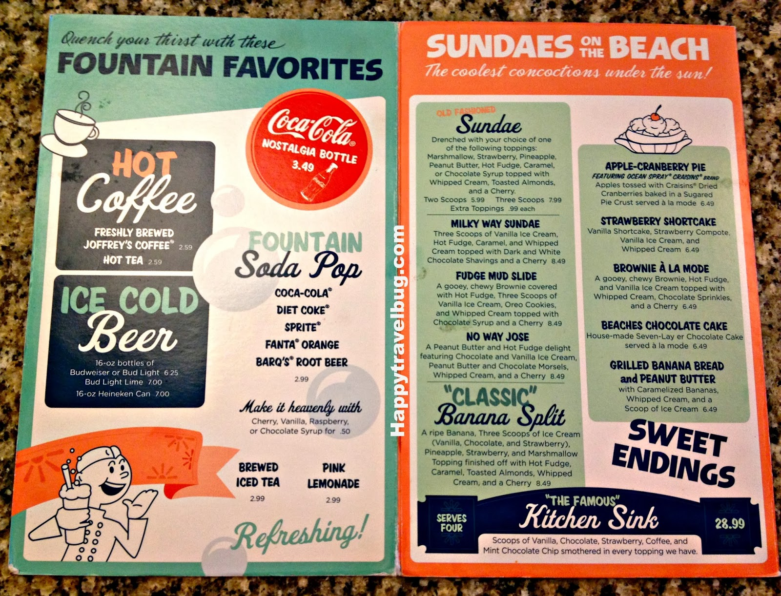 the kitchen sink menu the happy travel bug beaches and 6075