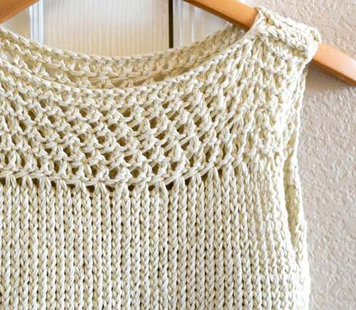 Easy Knit Summer Top - Free Pattern