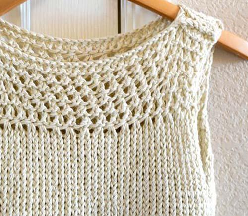 Beautiful Skills Crochet Knitting Quilting Easy Knit Summer Top