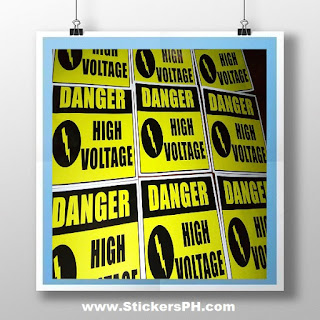 Safety Warning Stickers - Danger High Voltage