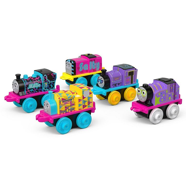 Thomas /& Friends DRL94 Minis Glow in The Dark Set of 5 Trains
