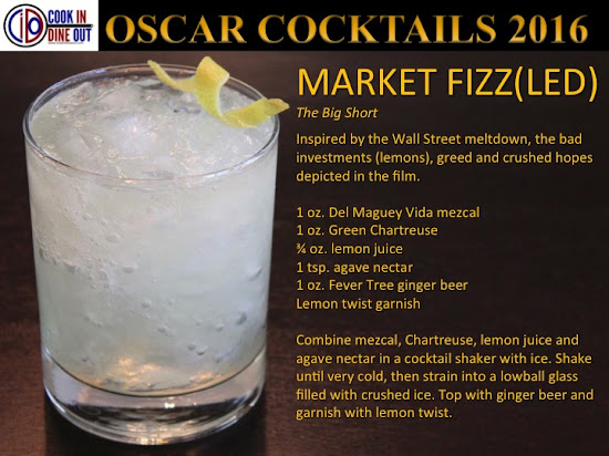 Oscar Cocktails 2016 The Big Short The Market Fizz(led)