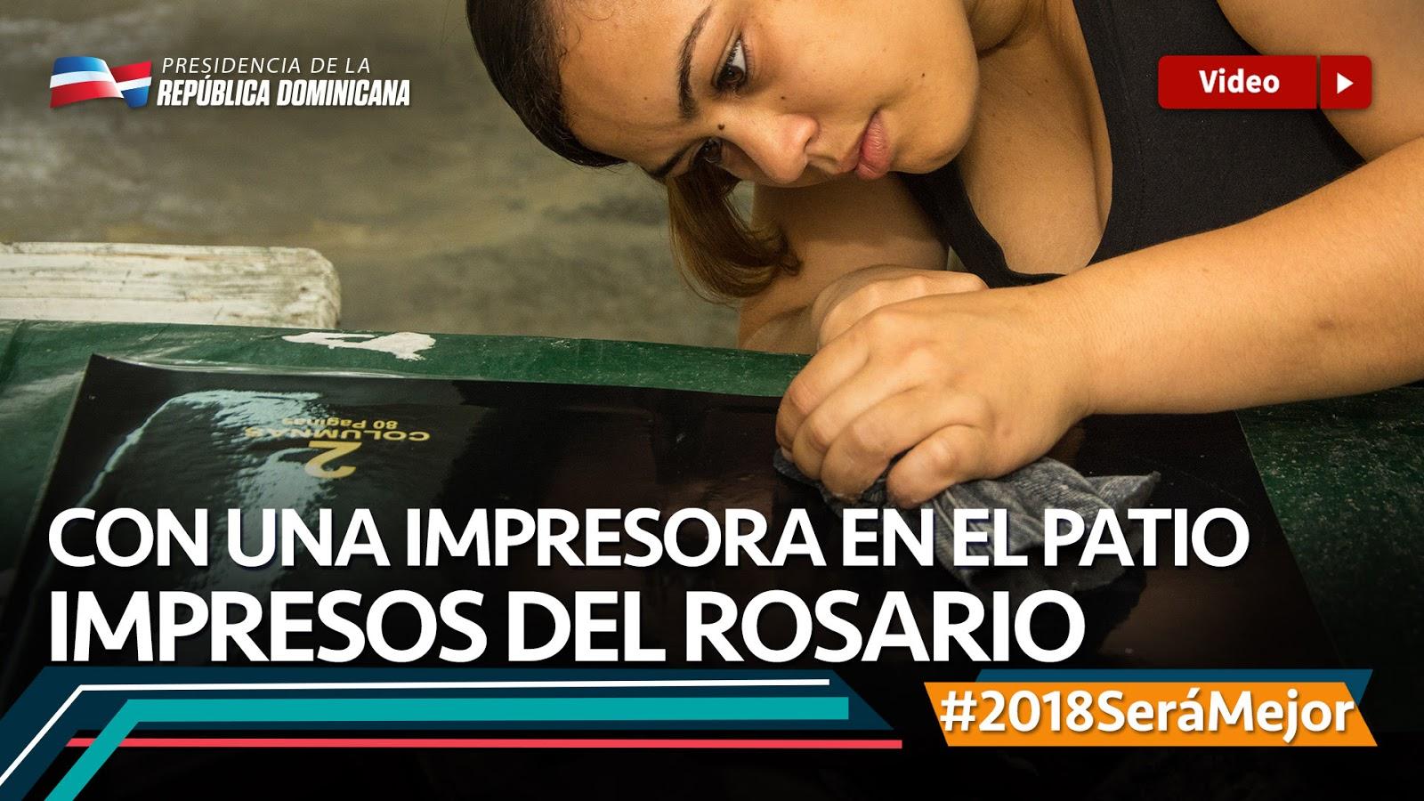 VIDEO: Con una impresora en el patio: Impresos Del Rosario