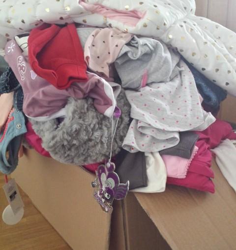 Bebina odjeća prije organiziranja