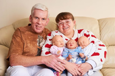 Woman who hit menopause at 22 makes dolls her babies.