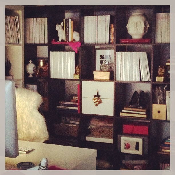 ikea expedit shelves and desk