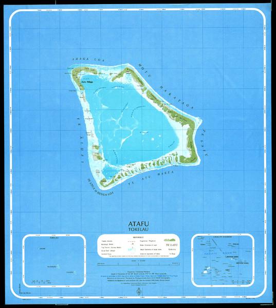 Mapas de Tokelau | Nova Zelândia