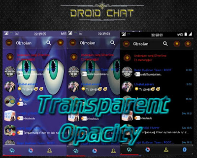 BBM Mod Droid Chat! v2.13.1.14 Transparent Opacity