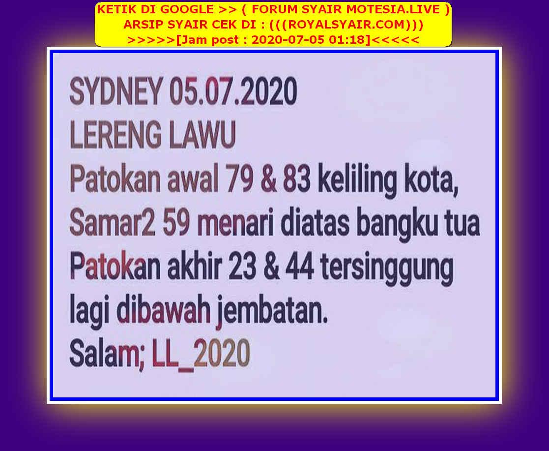 Kode syair Sydney Minggu 5 Juli 2020 23
